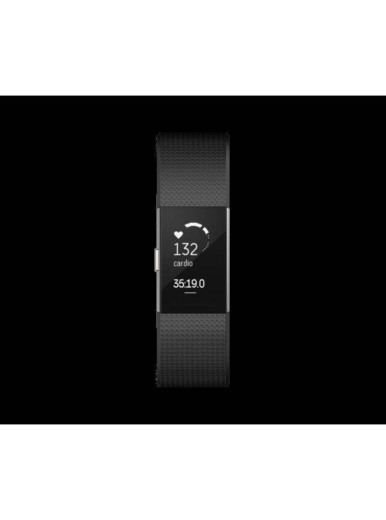 Fitbit Charge 2 ساعة فيتبيت شارج 2 الرياضية لون أسود